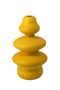 vaso in ceramica - crisalide - giallo limone - pantouceramics - 06_CRS_LY