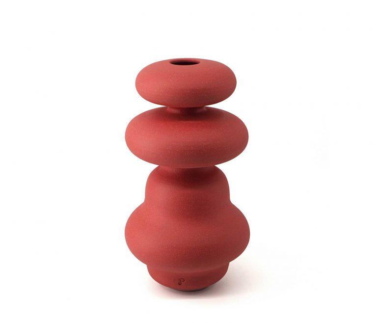 03_CRS_RC vaso ceramica Crisalide Rosso Corallo pantou ceramics