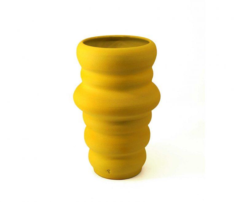 04_CRS_LY 02_CRS_AC yellow lemon chrysalis ceramic vase pantoú ceramics