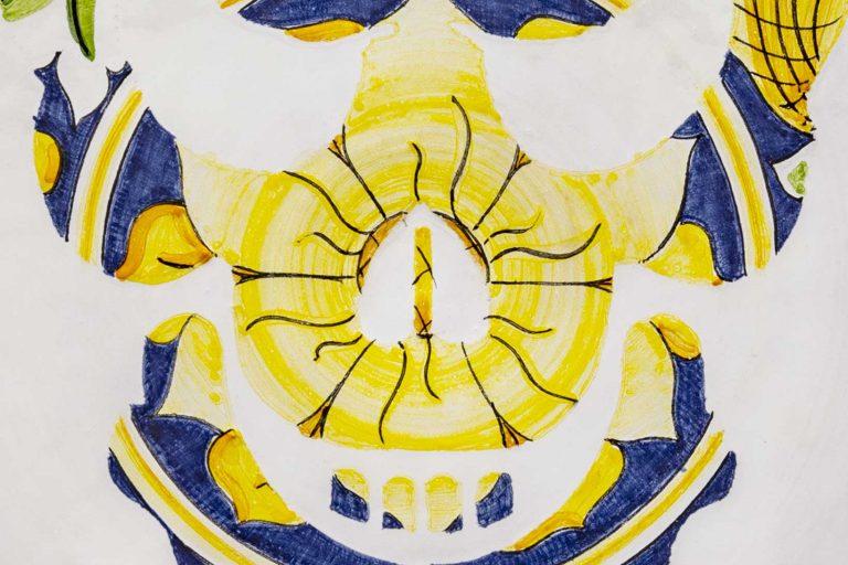 segnalEtica_01 ceramic plate_ majolica_ caltagirone pantoù ceramics