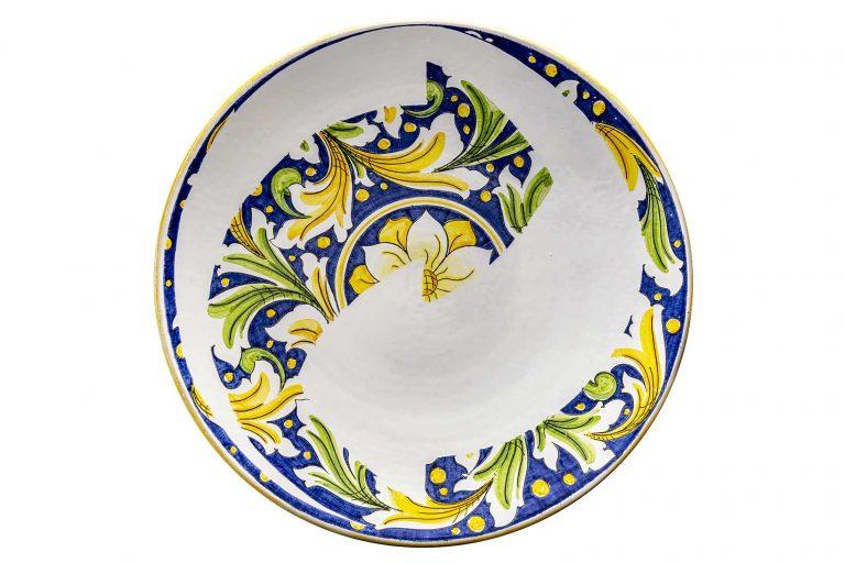segnalEtica_Riciclo_piatto ceramica maiolica decoro caltagirone pantou ceramics